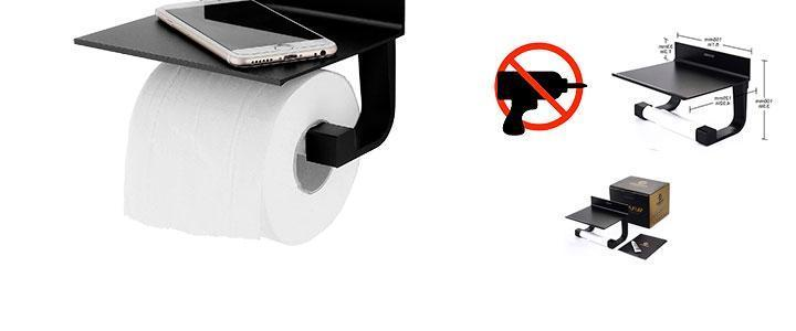 Soporte para papel higiénico negro
